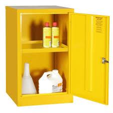 Yellow Storage Cabinet Mini Hazardous Substance Cabinet 1 Shelf These Robust Metal