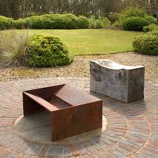 Steel Firepit Chunk Welded Steel Pit Contemporary Metals And Steel Pit