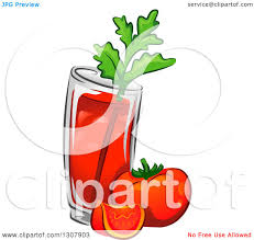 cosmopolitan drink clipart clipart of a bloody mary drink with tomatoes and celery royalty