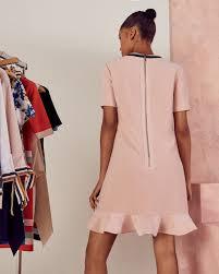 tunic peplum dress pink dresses ted baker uk