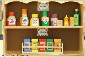 preschool kitchen furniture kitchen labels