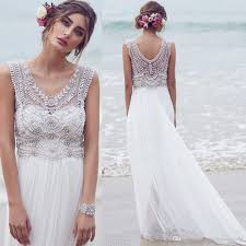 discount anna campbell bohemian beach wedding dresses designer