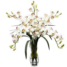 faux orchids nearly 1184 wh cymbidium orchid silk flower