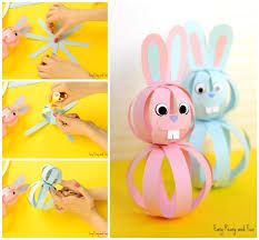 Paper Crafts - easy paper bunny craft easter idea for easy peasy and