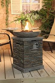 Firepits Co Uk Slate Effect Gas Pit And Bowl Co Uk Garden