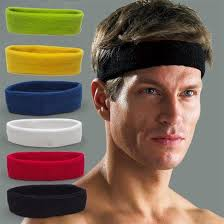 sweat headbands unisex women men fashion cotton sweat sport sweatband