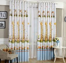 Yellow Nursery Curtains Animal Print Blackout Baby Infant Room Curtains Children