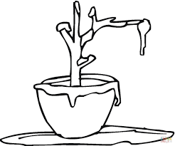 frost on the plant coloring page free printable coloring pages