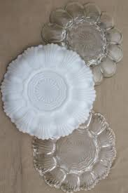 milk glass egg plate glass egg plates clear glass deviled egg trays milk glass