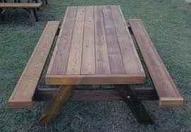 Wood Picnic Table Plans Free by Heavy Duty Picnic Tables Made By Quality Patio Furniture