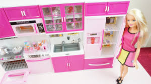 Kitchens For Kids by Unboxing My Happy Kitchen For Barbie Cooking Toys For Kids