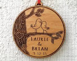 personalized home decor gifts love birds heart customized christmas ornament for him by eugenie2