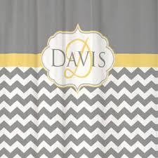 Grey And Yellow Shower Curtains Shop Personalized Chevron Shower Curtain On Wanelo