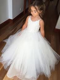 flower girl dresses buy gown spaghetti straps ivory tulle flower girl dress with