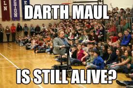 Darth Maul Meme - darth maul is still alive chicken nuggets quickmeme