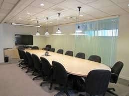 exciting office meeting room design ideas with round black