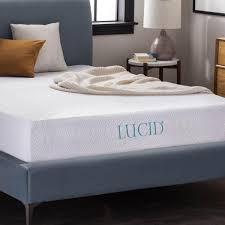 10 inch gel memory foam mattress lucid mattress