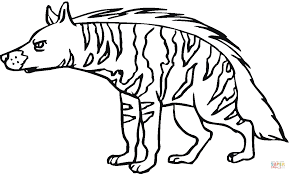 hyena coloring pages getcoloringpages com