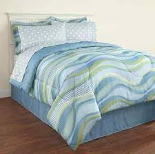 Light Blue Bed Comforters Light Blue Green White 8 Piece Striped Comforter Bed Set Queen