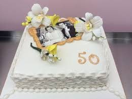 wedding anniversary cakes gold wedding anniversary cake
