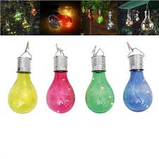 solar powered outdoor light bulbs waterproof solar power led light bulb 0 6w garden plastic nightlight