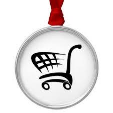 shopping cart ornaments keepsake ornaments zazzle