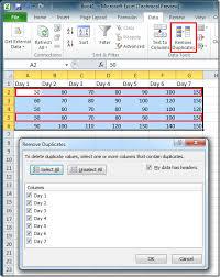 excel 2010 remove delete duplicate rows