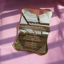 Sample Wedding Invitation Card Aliexpress Com Buy Sample Order For Golden Mirror Acrylic