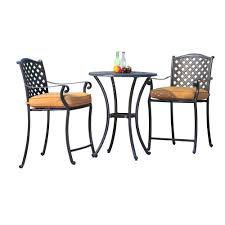 White Aluminum Patio Furniture Sets - sunjoy ruby 3 piece counter height aluminum patio bistro set with