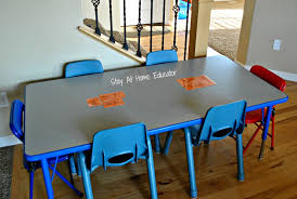 preschool kitchen furniture how to create an in home learning space when you don t any space