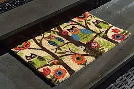 Coco Doormat Kempf Forrest Owls Coco Door Mat With Vinyl Backing 18 U2033 X 30