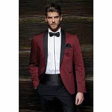 wedding mens fashion one button burgundy groom tuxedos groom men s wedding prom