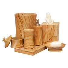 Wood Bathroom Accessories by Vinca 7 Piece Bathroom Accessories Whirl Green Marble Hayneedle