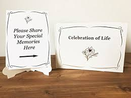 funeral sign in book premium book of condolence complete with sign and stand quality