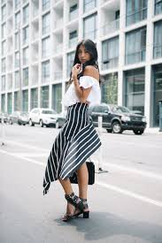 the shoulder black blouse this is how you should wear the the shoulder trend just the