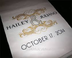Personalized Aisle Runner 62 Best Wedding Aisle Runners Personalized And Hand Painted