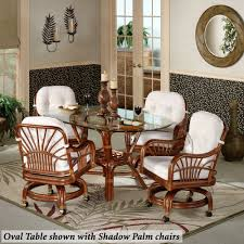 rattan dinette caster chairs home leikela round table with