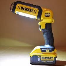 dewalt 20v area light new dewalt dcl050 20v cordless led hand held area light 1 dcb205
