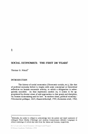 social economics the first 200 years springer
