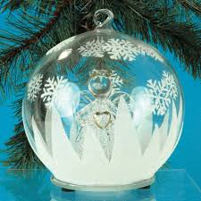 lighted ornament with glass led color changing