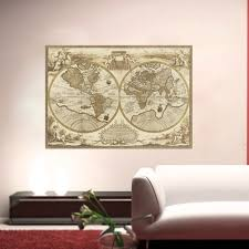 home decor wall posters vintage style retro world map poster home decoration wall art map