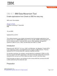 ibm data movement tool ibm db2 oracle database