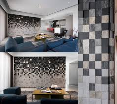 modern interior wall texture design with stone brick ideas
