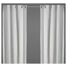 Werna Curtains Ikea by Henny Rand Curtains 1 Pair White Brown Gray Living Rooms