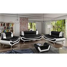 canapé 3 2 1 table basse ori noir et blanc achat vente canapé