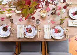 Setting A Table by Three Tricks To Setting A Cozy Thanksgiving Table Coco Kelley