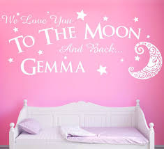 love you to the moon and back wall sticker personalised vinyl wall we will be happy to help you with any question