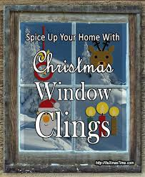 Christmas Window Cling Decorations by Christmas Window Clings Spice Up Your Home It U0027s Christmas Time