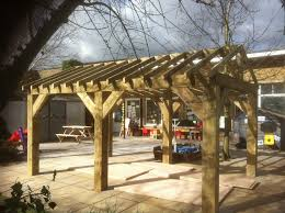 wooden garden shelter structure gazebo tub car port canopy