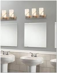 Contemporary Bathroom Lighting Ideas Tracker Make Gantt Sketching Gray Wall Paint Wall Lamps Mirrors